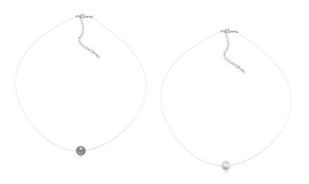 1 ou 2 colliers nylon ornés d'une perle Swarovski®