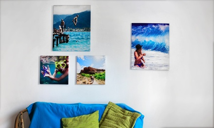 One or Two 30cm x 20cm, 40cm x 30cm or 50cm x 40cm Personalised Photo Canvases from Colorland (Up to 77% Off)