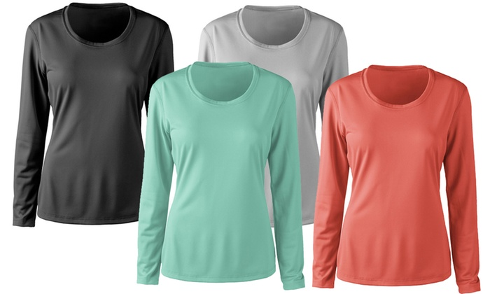 3d3a4514429 2-Pack Zorrel Womens Long Sleeve Active Fitness Tees
