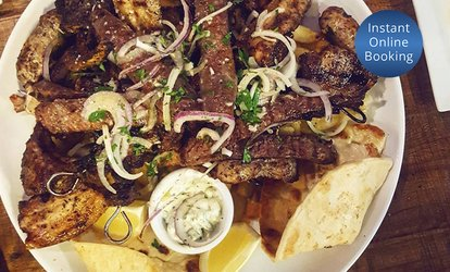 Traditional Greek Feast for Two ($46) or Four People ($89) at Platia Greek Taverna (Up to $188 Value)