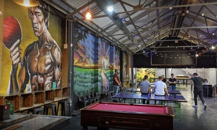 One Hour of Table Tennis for Up to Six with Optional Two Drinks at Drop Shot