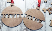 Personalised Christmas Name or Wish List Ornaments: Two ($4), Four ($7) or Six ($10) (Dont Pay up to $57)