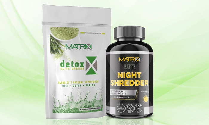 Matrix Nutrition Detox Greens Shake and Matrix Elite Night Shredder for £12.99