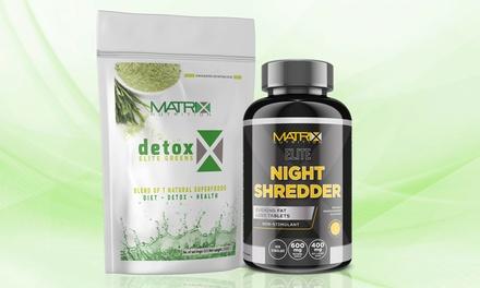 Matrix NutritionDetox Greens Shake and Matrix Elite Night Shredder