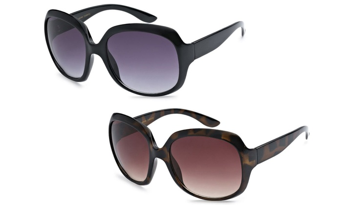 Women's Designer-Inspired Oversized Sunglasses (2-Pack)