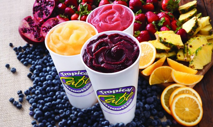 Tropical Smoothie Cafe - Leesburg: $15 for Six Groupons, Each Redeemable for One Smoothie at Tropical Smoothie Cafe ($30 Value)