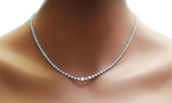 Groupon Goods Global GmbH: Collier Zenith en cristal 24 carats Philip Jones