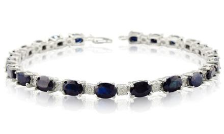 15 CTTW Sapphire and Diamond Bracelet