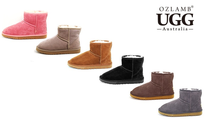 $59 for a Pair of Ozlamb UGG Unisex Premium Ankle Boots in a Range of Colours and Sizes (Don't Pay $213.87)