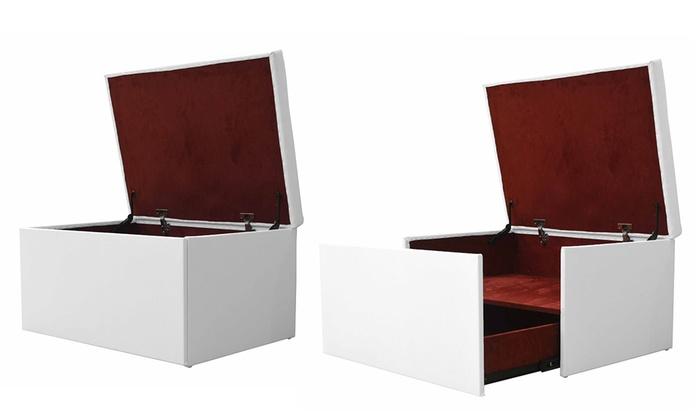 Coffre banquette similicuir de luxe avec tiroir coulissant   Groupon  Shopping 23154d63635b