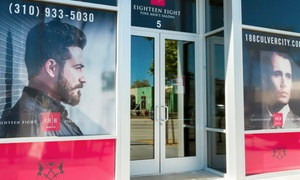 18|8 Fine Men's Salons: One or Two Executive Haircuts or One Cut with Add-On at 18|8 Fine Men's Salons (Up to 50% Off)
