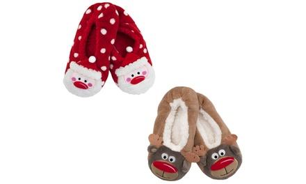 Santa or/and Reindeer Christmas Slippers