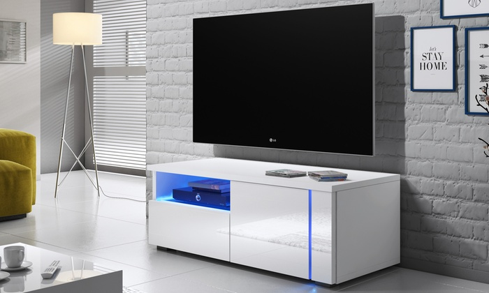 tv schrank mit led beleuchtung groupon goods. Black Bedroom Furniture Sets. Home Design Ideas