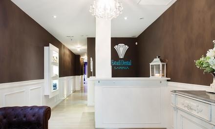 Higiene dental con ultrasonidos y opción a 1 o 2 sesiones de blanqueamiento led desde 9,99 € en Estudio Dental Sarriá