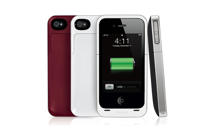 mophie iphone 4 4s battery cases groupon goods. Black Bedroom Furniture Sets. Home Design Ideas