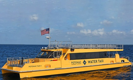 Water Taxi Round-Trip Entry or Boat Tour at Potomac Riverboat Company (Up to 41% Off). Three Options Available.