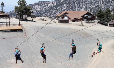 Zipline Ride with Roundtrip Lift for One, Two, or Four People at Mt. Baldy Ski Lifts (Up to 55% Off)