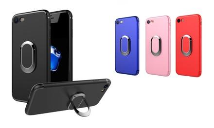 Funda TPU con soporte magnético para smartphones iPhone 6 / 6s / 6+ / 7 / 7+ y Samsung S8 / S8+