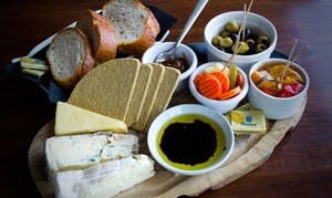 Old Chain Pier: Sharing Platter With Wine For Two or Four at Old Chain Pier (Up to 50% Off)