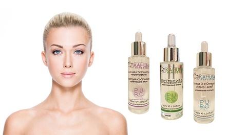 Set van Kahuna Benessereverzorgingsmiddelen voor het gezicht