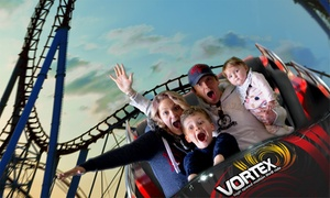 Thrill Zone: Vortex 12D Motion Theatre Package + Snacks for 1 Child ($24) or Up to 4 Adults ($116) at Thrill Zone (Up to $206 Value)