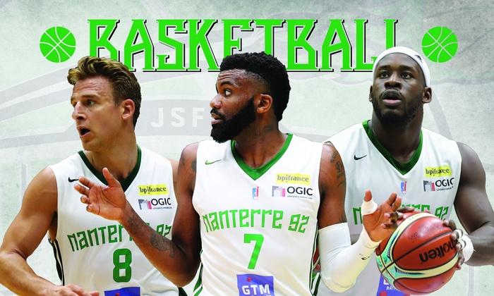 Places pour le match de basketball de Nanterre Vs Limoges, Nymbruk ou Chalon dès 10,90€ au Palais des Sports de Nanterre