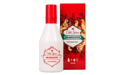 One, Two or Three Bottles of Old Spice Bearglove Aftershave Spray 100ml