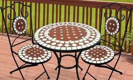Tavoli Da Giardino In Ceramica.Set Da Giardino Con 1 Tavolo E 2 Sedie In Ceramica Disponibili Insieme O Separati In Offerta