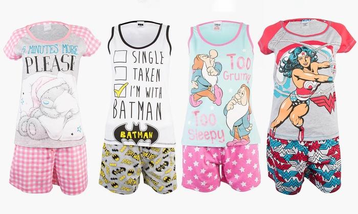 Women's Character Short Pyjama Set from £7.99