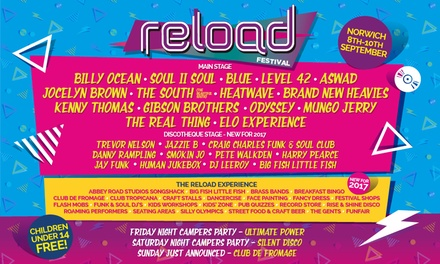 Reload Festival, 9–10 September at Norfolk Showground with Optional VIP Upgrade (2 for 1)