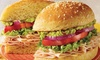 47% Off Two Medium-Sized Sandwiches at Schlotzsky's