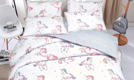 Pieridae Unicorn Reversible Duvet Set