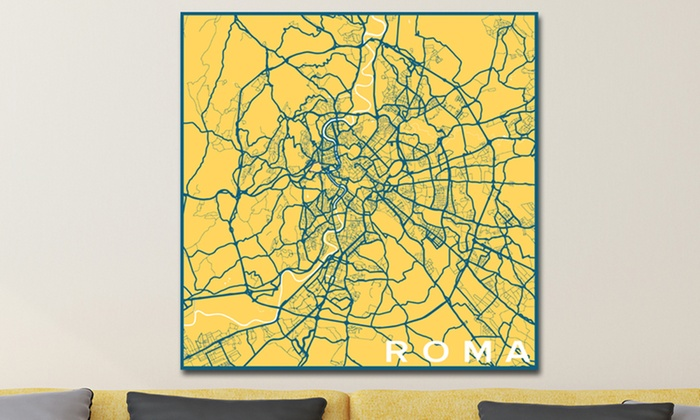 Minimalist city map prints groupon goods minimalist city maps on gallery wrapped canvas or poster prints gumiabroncs Choice Image