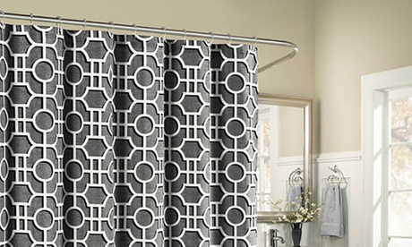 Lenox 100% Cotton Luxury Fabric Shower Curtain
