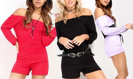 BEJEALOUS Bardot Jersey Playsuit