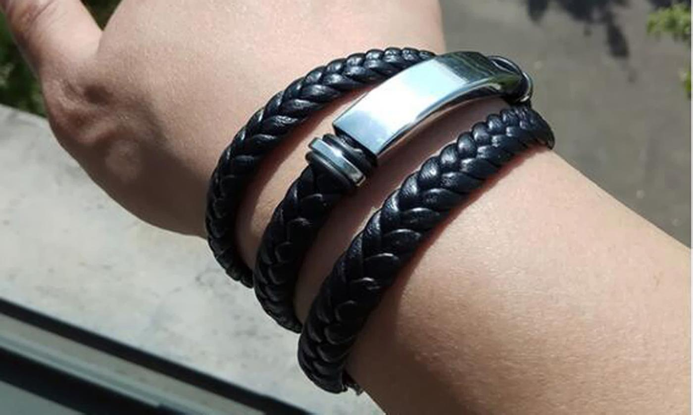 One or Two Men's Multi-Layer Bracelets