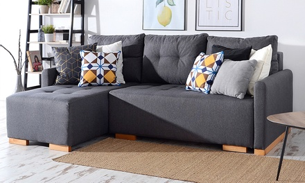 Folk Fabric Corner Sofa