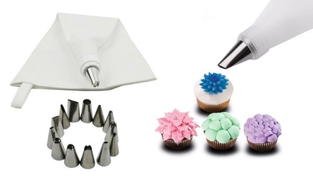 One, Two or Four Vivo 14Piece Icing Piping Sets with Bag