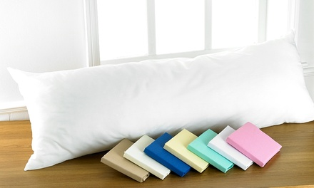 Huggable Bolster Support Cushion Plus Pillowcase in Choice of Colour for £10.99