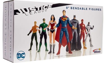 Justice Leauge Bendable Figures Set (7-Piece)