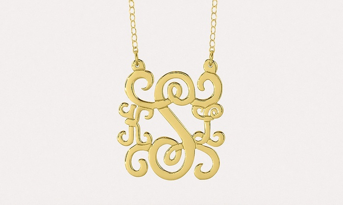 MonogramHub: Custom Monogram Pendant Necklace from Monogramhub.com