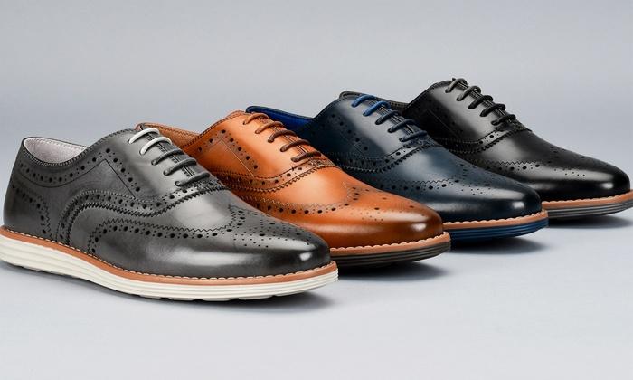 Off on Men's Wingtip Oxford Shoes