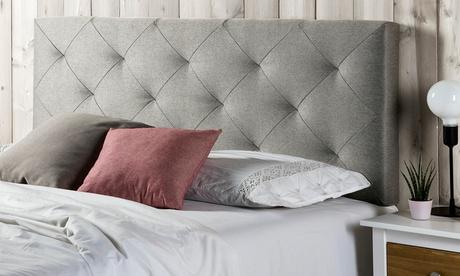 Cabecerosde cama tapizados en tela modelos Oslo o Milan en color gris