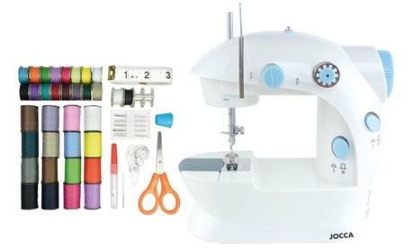 Máquina de coser y un kit de costura de 48 piezas