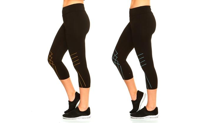 Women's Linear Print Activewear Capris (2-Pack)