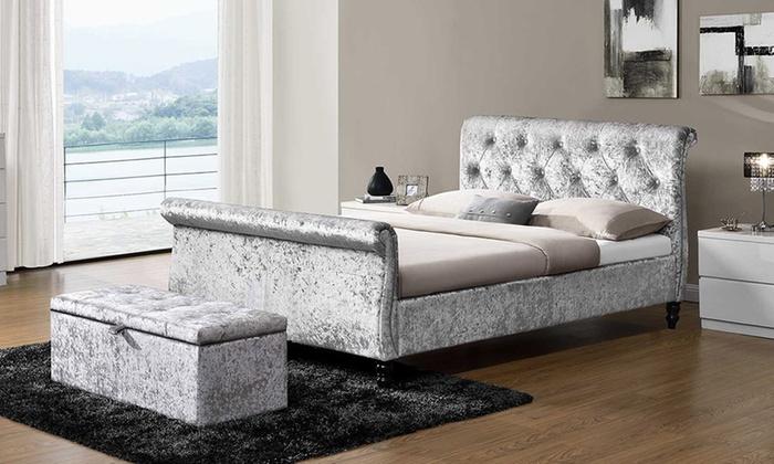 Silver Crushed Velvet Furniture Groupon