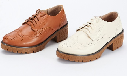 Womens Leather Brogues