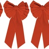 Christmas Large Red Bow (3-Pack)