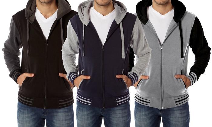 Men's Zip-Up Varsity Hoodie