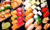 Sushi da asporto fino a 60 pezzi